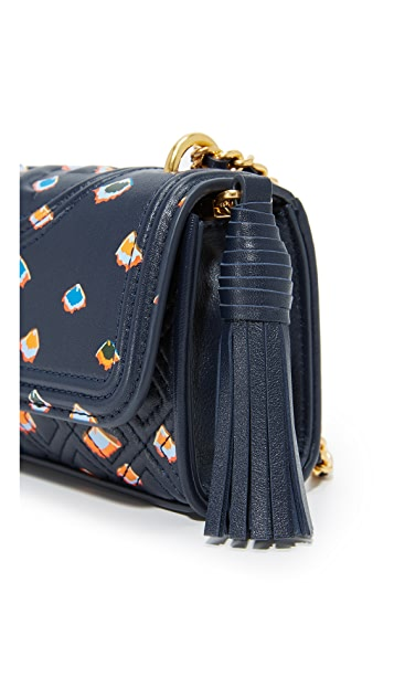 Tory Burch Fleming Printed Micro Cross Body Bag
