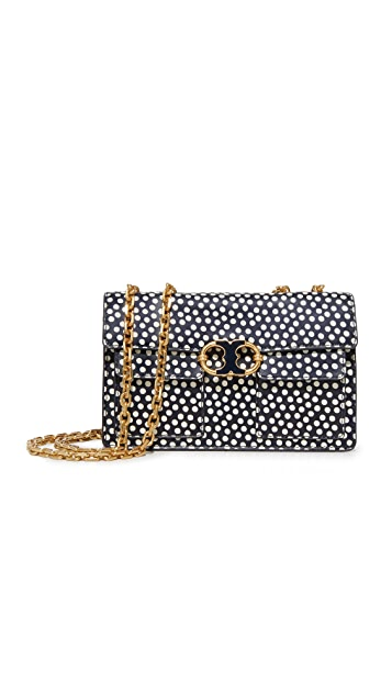 Tory Burch Gemini Link Printed Chain Shoulder Bag