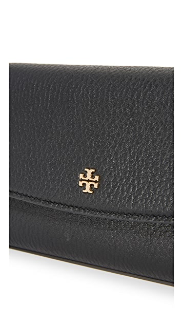 Tory Burch Robinson Pebbled Cross Body Bag