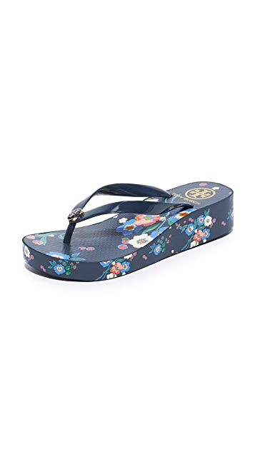 Tory Burch Wedge Thin Flip Flops