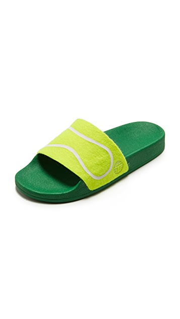 Tory Burch Tory Sport Tennis Ball Slides