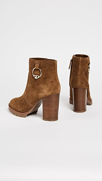 Tory Burch Sofia 80MM Lug Sole Booties