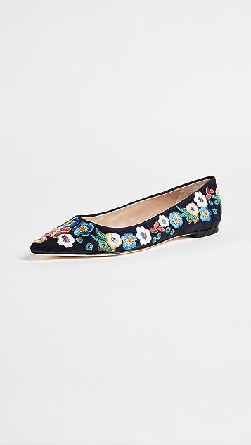 1a2f13b0946da4 Tory Burch Rosemont Embroidered Ballet Flats