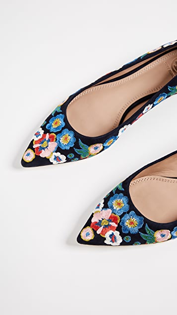 shop best sellers united kingdom great look Rosemont Embroidered Ballet Flats