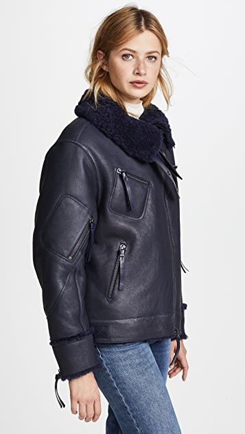 Tory Burch Scoatia Aviator Jacket
