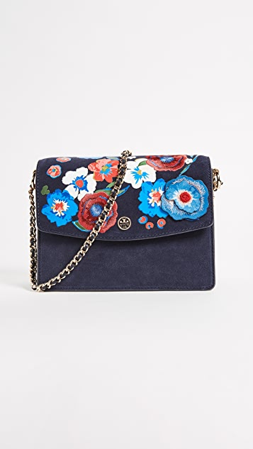 Tory Burch Parker Embroidered Convertible Shoulder Bag