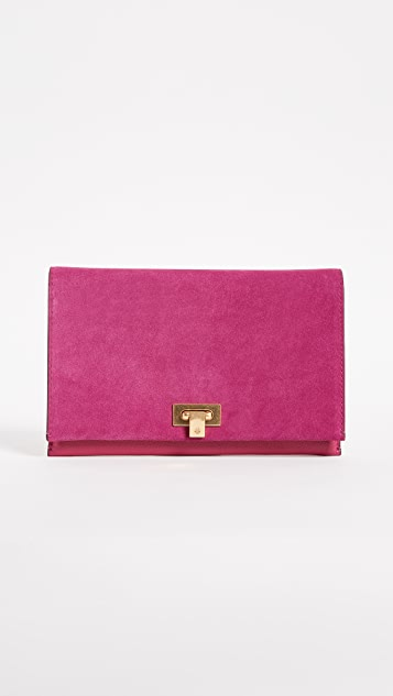 Tory Burch Carmen Suede Clutch