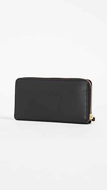 Tory Burch Charlie Zip Continental Wallet