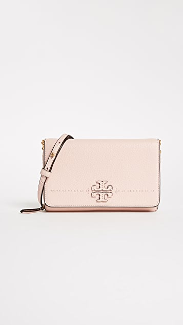 Tory Burch Mcgraw Flat Wallet Cross Body Bag ...