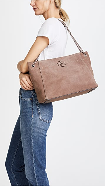 7c1b72cd227 ... Tory Burch Mcgraw Suede Chain Shoulder Slouchy Tote ...