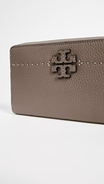 Tory Burch Mcgraw Zip Continental Wallet