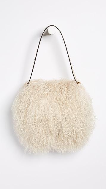 Tory Burch Sawyer Shearling Small Shoulder Bag