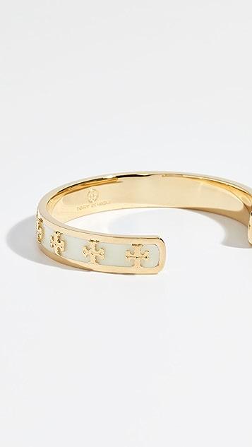 afc09beb3e900 Enamel Raised Logo Cuff Bracelet