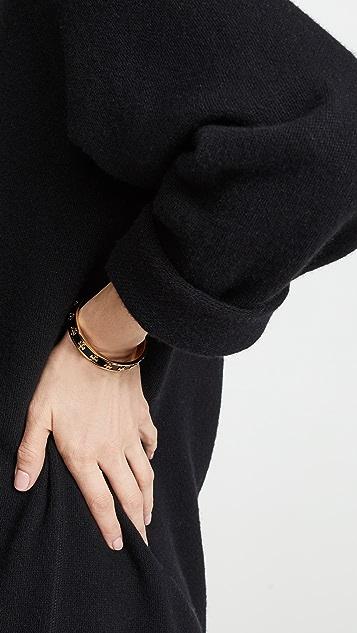 Tory Burch Enamel Raised Logo Cuff Bracelet
