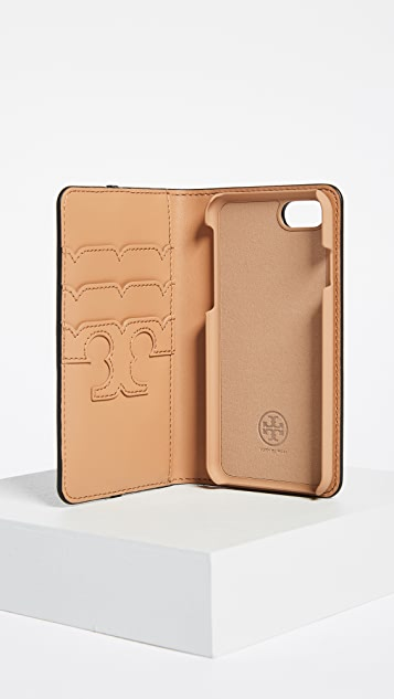 Tory Burch Parker Leather Folio iPhone 7 / 8 Case