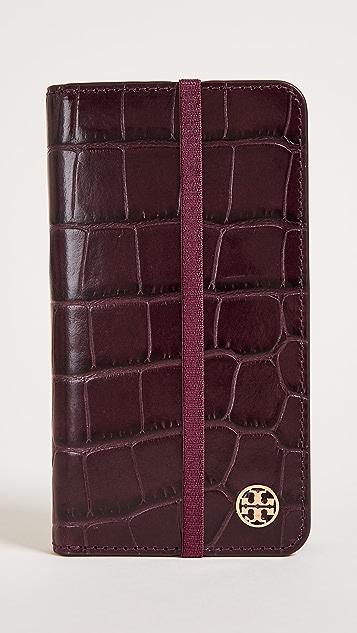 Tory Burch Parker Croc Folio iPhone 7 / 8 Case