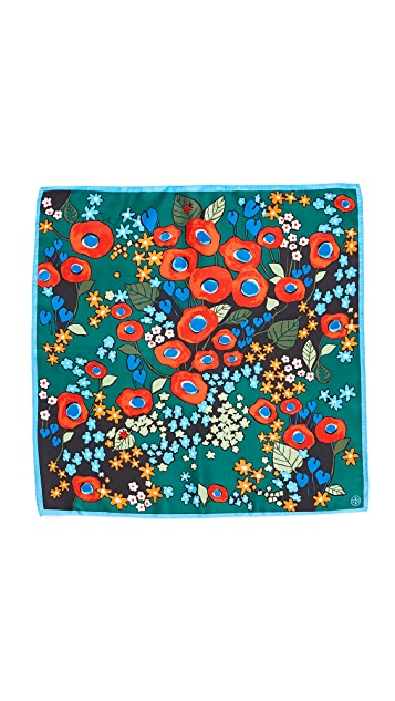 Tory Burch Darling Floral Neckerchief