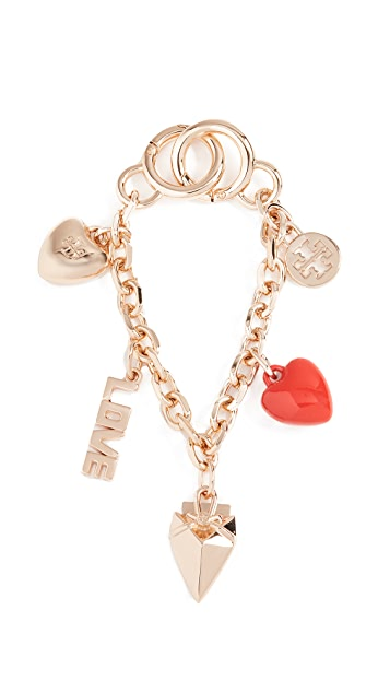 Tory Burch Heart Chain Key Chain