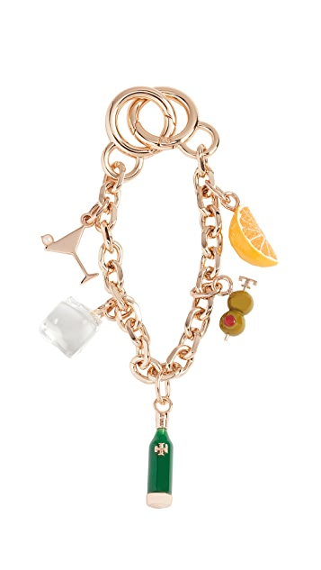 Tory Burch Martini Chain Key Chain