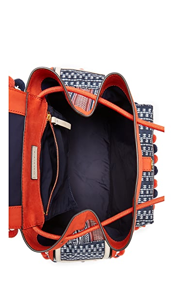Tory Burch Scout Nylon Pom Pom Backpack