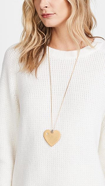 Tory Burch Heart Locket Pendant Necklace