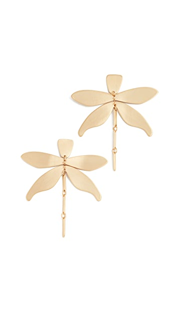 Tory Burch Articulated Dragonfly Earrings