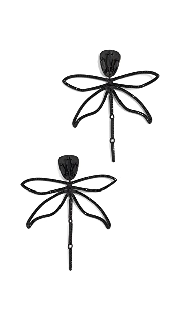 Tory Burch Embellished Articulated Dragonfly Earrings
