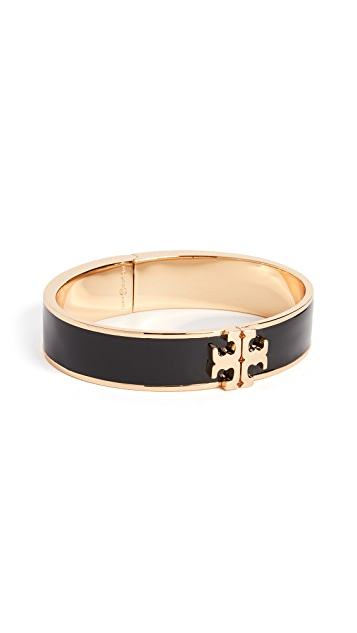 Tory Burch Logo Thin Enamel Hinged Bracelet