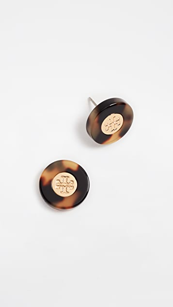 Tory Burch Resin Colorblock Studs