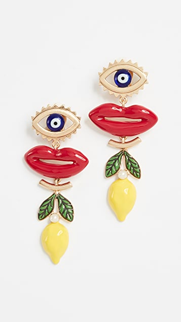Tory Burch Crazy Charms Statement Earrings