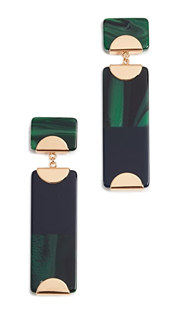 Tory Burch Resin Colorblock Drop Earrings