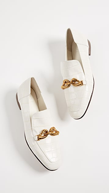 Tory Burch Jessa Horse Hardware Loafers