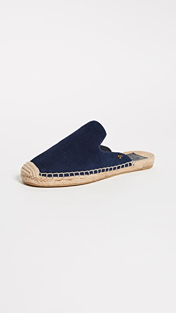 Tory Burch Max Espadrille Slides - Royal Navy