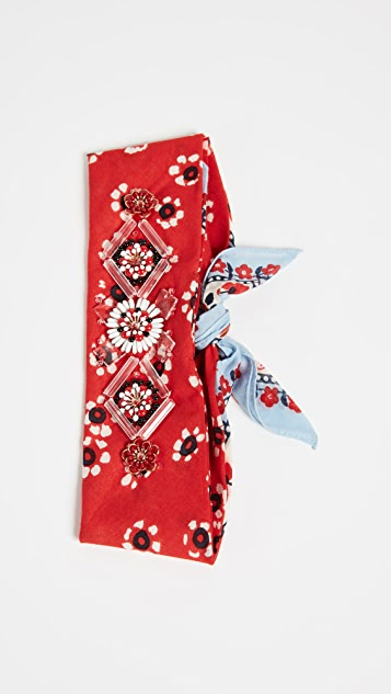 Tory Burch Embellished Bandana Necktie