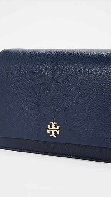 Tory Burch Georgia Pebbled Leather Cross Body Bag