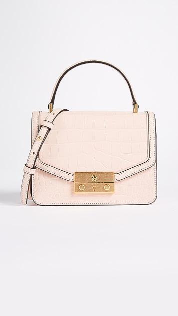 Tory Burch Juliette Croc Mini Top Handle Cross Body Bag