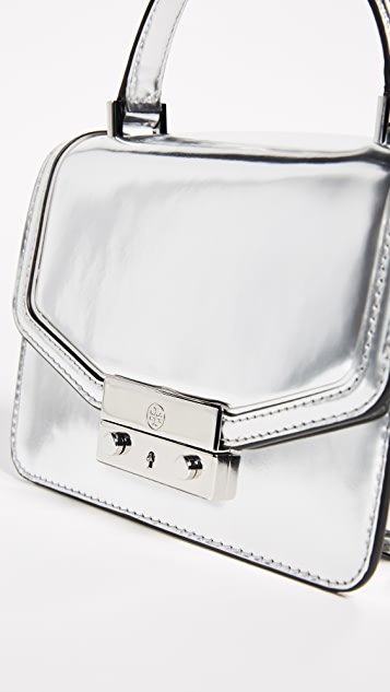 Tory Burch Juliette Metallic Mini Top Handle Satchel