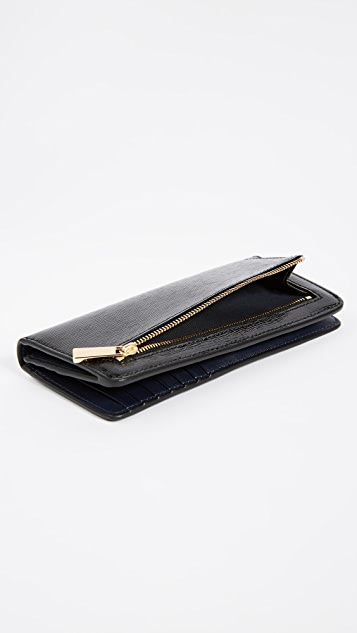 Tory Burch Robinson Patent Slim Wallet