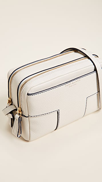 Tory Burch Block T Double Zip Cross Body Bag