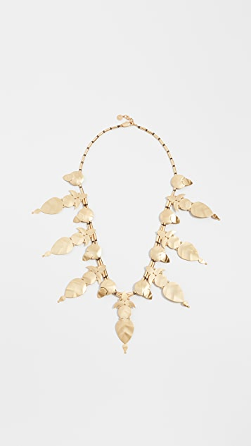 Tory Burch Willow Leaf Long Necklace