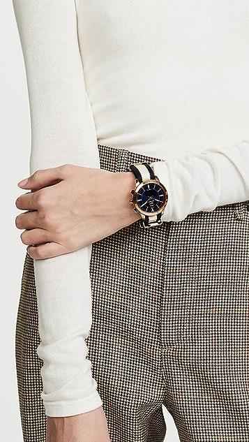 Tory Burch Canvas Collins Hybrid Watch, 38mm