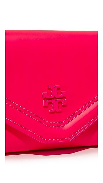 Tory Burch Kira Neon Envelope Continental Wallet