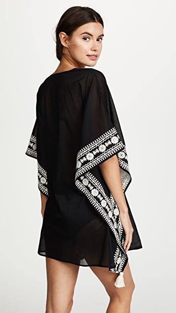 Tory Burch Embroidered Short Caftan