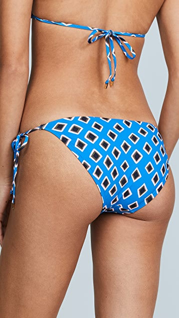 Tory Burch Jasmine Floral String Bottoms