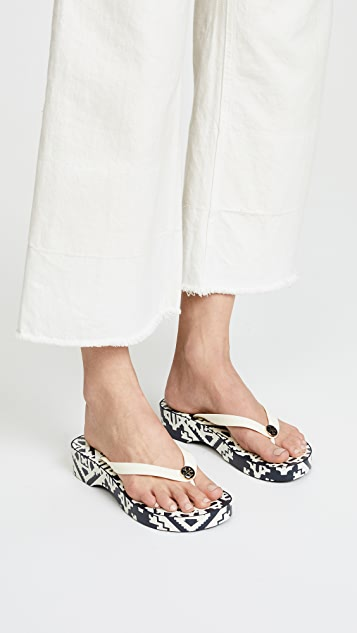 7a3b97580d1f ... Tory Burch Cutout Wedge Flip Flops ...