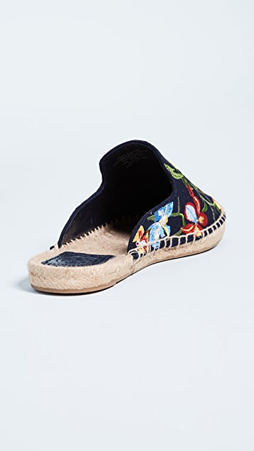Tory Burch Max Embroidered Espadrille Slides