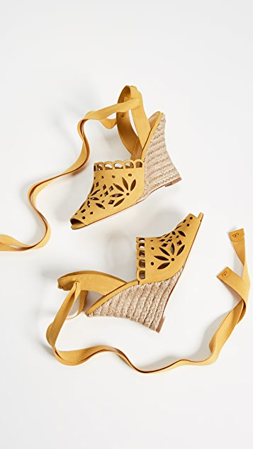 Tory Burch May 110mm Peep Toe Wedge