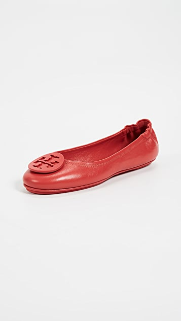 Tory Burch Minnie Travel Ballet Flats with Logo ...