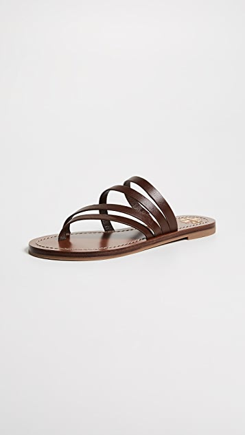 Tory Burch Patos Flat Sandals - Americano