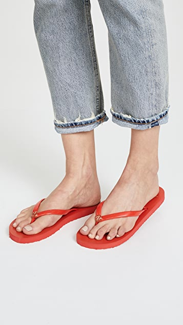 Tory Burch Solid Thin Flip Flops